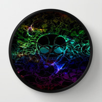 COLORFUL SKULL Wall Clock by Acus