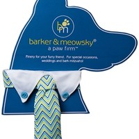 Blue ZigZag Neck Tie by barker & meowsky at barker & meowsky a paw firm since 1998 carries dog clothes, dog accessories, dog carriers, dog collars, dog toys, dog beds and dog treats