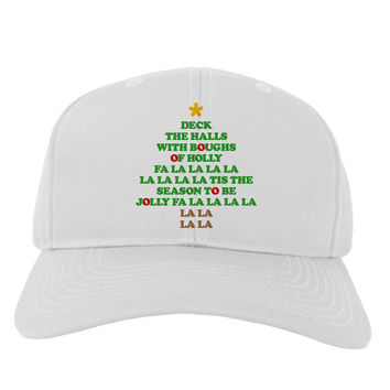 Deck the Halls Lyrics Christmas Tree Adult Baseball Cap Hat
