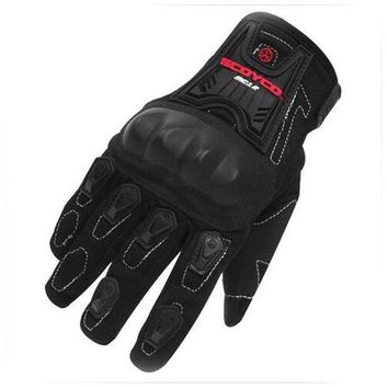 ac NOOW2 New Brand for Scoyco MC12 Full Finger Carbon Safety Motorcycle Gloves Cycling Racing Riding Protective Gloves Motocross Gloves