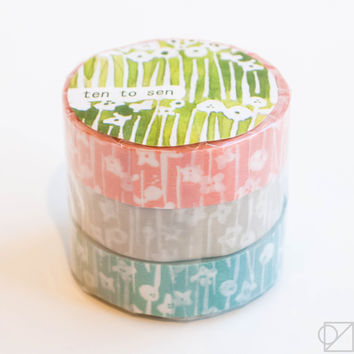 Classiky Washi Tape Trio Wildflowers