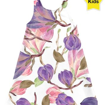ROCD Purple Flowered Children's Dress