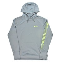 2016 Nike Girls KO Lacrosse Hoody - Grey and Volt | Lacrosse Unlimited