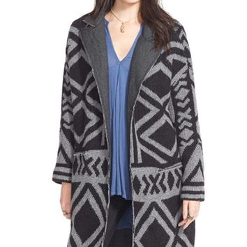 Women's Free People 'Bold Geo' Sweater Coat,