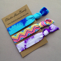 The 3-Pack Mia  Hair Tie Collection - 3 Elastic Hair Ties