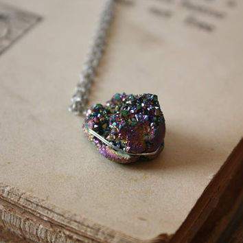 ON SALE Druzy Necklace