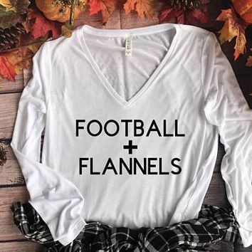 Football Shirt // Women's Fall Shirts, Flannel Shirts, Football T shirts, Football Fall Shirts, Football Shirts, Game Day Shirt
