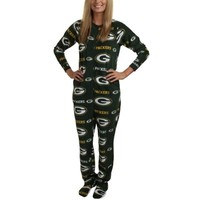 Green Bay Packers Highlight Ladies Microfleece Union Suit - Green