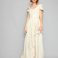 TIME'S UP VINTAGE WEBSHOP - 40s Ivory Wedding Dress