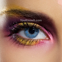 Natural Eyes Contact Lenses | EDIT Blue One Tone Contact Lenses (Pair)