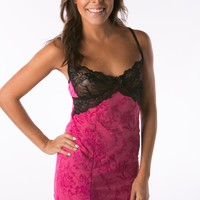 black lace pink mature lingerie-comfort fit