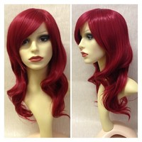 Ruby, Natural Red Wavy Gothic Lolita Cosplay Wig