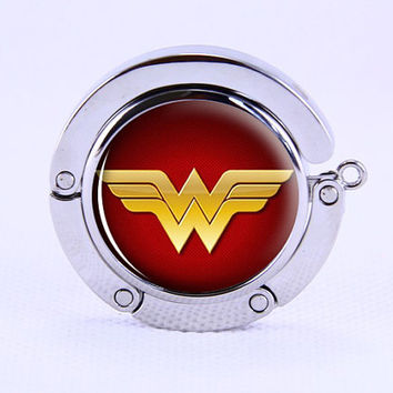 Purse Hanger- Folding Purse Hanger, Wonder Woman Tara   Purse Hanger, Personality silvery Bag Hook ,Wedding gitf,Groom &Bride Gift,