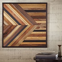 Pieced Wood & Metal Square