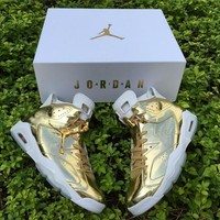 Air Jordan 6 Retro Pinnacle Metallic Gold White AJ6 Sneakers - Best Deal Online