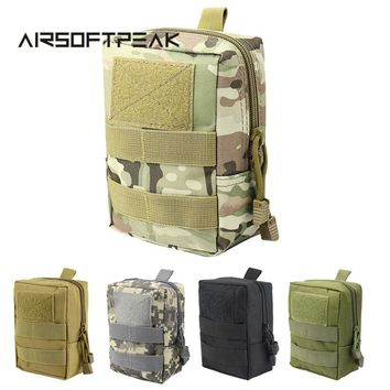 AIRSOFTPEAK Military Molle Waist Bag Tactical EDC Pouches Outdoor Belt Utility Pouch Tool Zipper Waist Pack Hunting Bags
