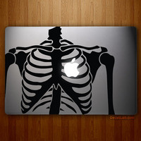 Skeleton Heart - Full-sized MacBook, MacBook Air, MacBook Pro Vinyl Decal