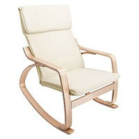 Micah Beige Rocking Chair by Resort Living | Zanui