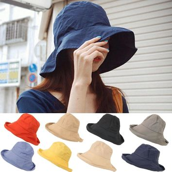 2018 plain Solid bucket hats Unisex reversible Quick-drying Waterproof sun bob cap comfortable fisherman hat