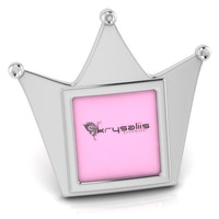 Krysaliis Crown Sterling Silver Picture Frame