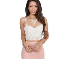 Ivory Crochet Crop Top