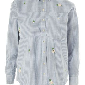 MOTO Embroidered Denim Shirt