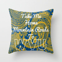 Mountain Roads Throw Pillow by Jordan Virden