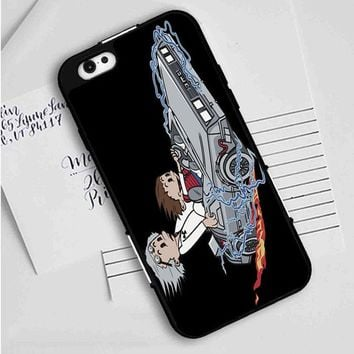 Calvin And Hobbes (back to the future) iPhone Case