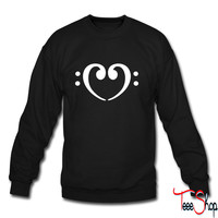 Bass Note heart 3 sweatshirt