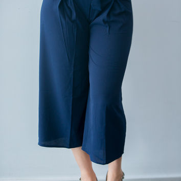 Casual Cropped Culottes- 2 Colors!
