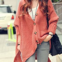 LOOSE BAT SLEEVE CARDIGAN