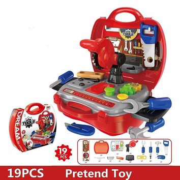 Tools Toy Child Tool Box Kids Boys Gift Kids Tool Set Simulation Engineer Children For Tools Children Pretend Repair Play Toys