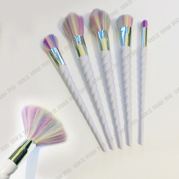 SALE! FREE SHIPPING Unicorn Horn Makeup Brushes Brush Set 5pc