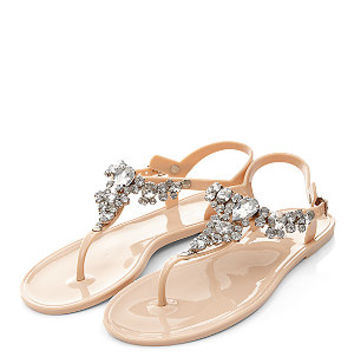 Stone Gem Stone Jelly Sandals