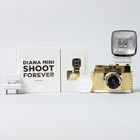 Lomography Camera Diana Mini Camera with Flash in Gold
