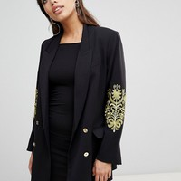 Ivyrevel Double Breasted Blazer with Embroidery at Sleeves at asos.com