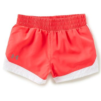 Under Armour Little Girls 2T-6X Solid Run Shorts | Dillards