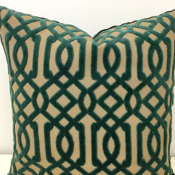 Green Velvet Pillow Cover, Velvet Pillow, Green Pillow Covers, Throw Pillows, Decorative Pillows, Green Velvet Couch Sofa Pillow Covers
