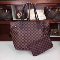 Louis Vuitton Damier Ebene Canvas Duomo Cross Body Shoulder Handbag Made in France