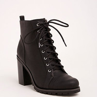 Lace Up Heel Combat Boots (Wide Width)