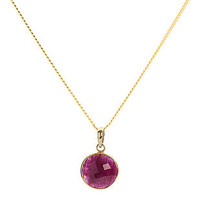 Ruby 18 Ct Gold Vermeil Necklace