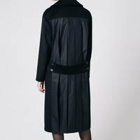 Black Coat Black Wool Coat Midi Black Coat Black Outwear Black Oversize Coat