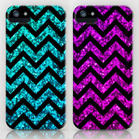 Chevron Sparkle iPhone Cases by M Studio - Not Real Glitter - SOLD SEPARATELY - For iPhone 3G, 3GS, 4, 4S, 5/iPod Touch/Galaxy S4