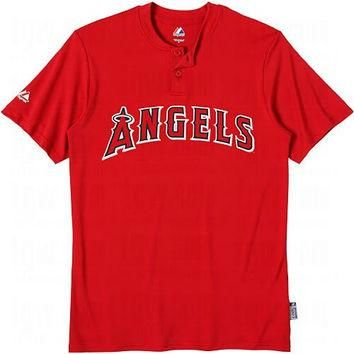 Los Angeles Angels of Anaheim (ADULT SMALL) Two Button MLB Officially Licensed Majesti