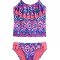 Tribal Flounce Tankini Swimsuit