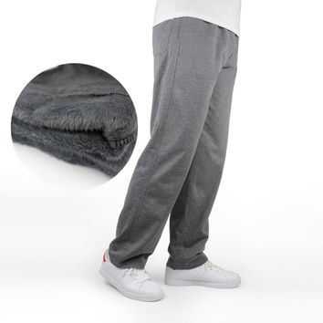 7XL Men Winter Sweatpants Warm Fleece Thick Pants Loose Elastic Waist Pants Cotton Casual Pants Trousers Big Plus Size 5XL 6XL