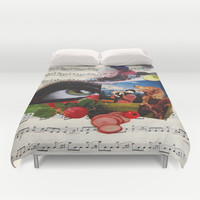 am watching you Duvet Cover by C Kiki Colle