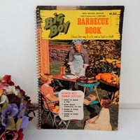 Big Boy Barbecue Book Outdoor Cooking  Meat Grilling BBQ Recipes Vintage 1967 Cookbook Retro Kitchen Collectible