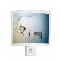 Night Light - Elephant Dust, whimsical, elephant decor, kitchen, newlyweds, new home, bathroom, bedroom, gift idea - Made To Order - ED#78