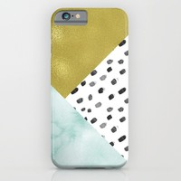 Watercolor and Gold iPhone & iPod Case by heartlocked